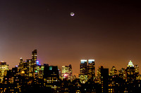 The Moon and Mars Descend Upon New York City